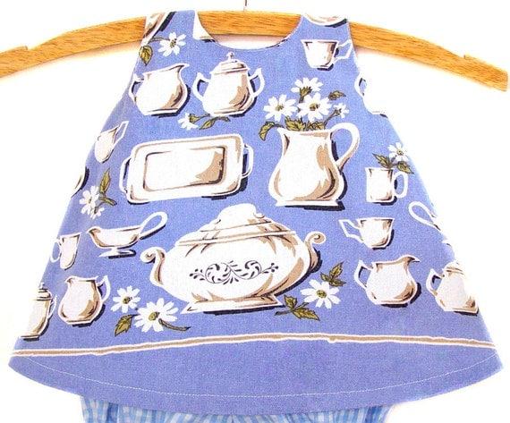 Baby / Pinafore / Handmade / Dress / Tea Towel - Corner Cupboard Tea Towel Pinafore