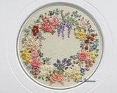 Miniature Wreath of Silk Ribbon Flowers - Full Kit