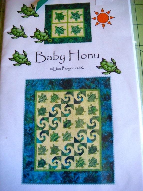 Genuine Kauai Quilt Pattern Baby Honu