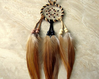 Dream Catcher - Earthy Brown Feather Dream Catcher, Car Dreamcatcher - Lucidity