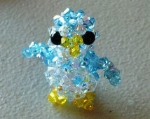 Handmade Crystal New Style Penguin Charm FREE SHIPPING