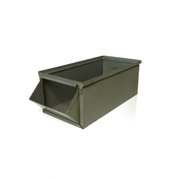 Vintage Metal Box, Lyon Industrial Hardware Parts Bin