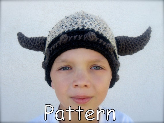 Free Pattern Crochet Viking Hat : Bearded Viking Hat Crochet Pattern images