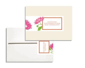 Printable Editable Envelope Wrap in Chrysanthemums PDF