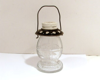 Mini Glass Lantern Container