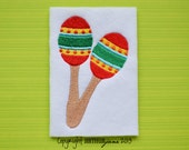 Maracas, INSTANT DOWNLOAD, Embroidery Design for Machine Embroidery 4x4