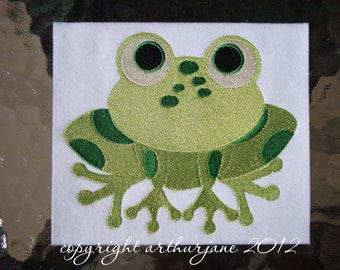 Frog 3, INSTANT DOWNLOAD, Embroidery Design for Machine Embroidery 5x7