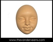 Mold No.12(Face- with opened eyes) by Veronica