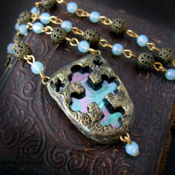 Empress Adelaide's Cross - Stained Glass Window Necklace