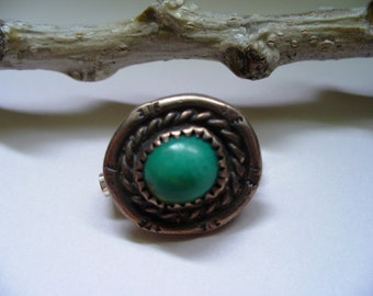Southwestern Brooch Indian Jewelry Turquoise Silver Tribal Pin