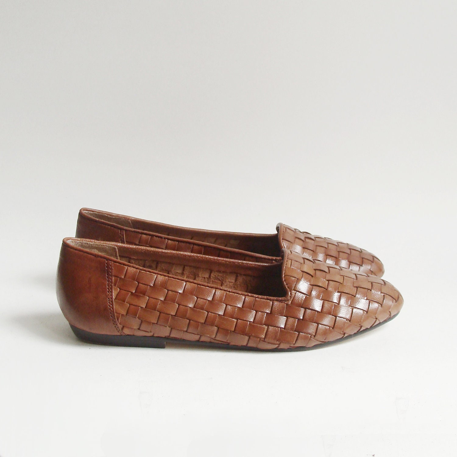 shoes 6 5 woven leather flats toffee by