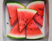 Kitchen Art Watermelon Print on canvas unframed