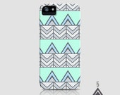 SALE - Triangles and Chevron - iPhone Case 5