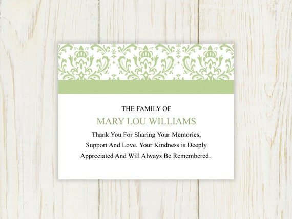 Sympathy Thank You Card Printable After Funeral By