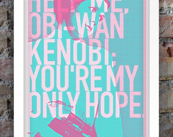 Star Wars, Print, Inspired, Princess Leia, Star Wars Print, Star Wars Poster