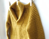 Boys Knitted Sweater - OTTO - shawl collar seamless pullover for kids - made to order