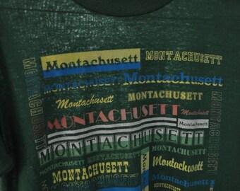 Near Burnout Tee Montachusett Girl Scouts TShirt Tee Font Design North County Massachusetts Ma SMALL