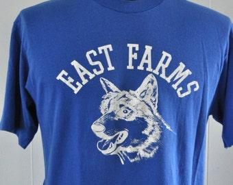 Near Burnout Super Soft n Thin Royal Blue Tshirt East Farms Ct Dog LARGE