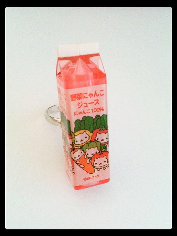 cute ring kawaii nyanko cat bottle food San-x