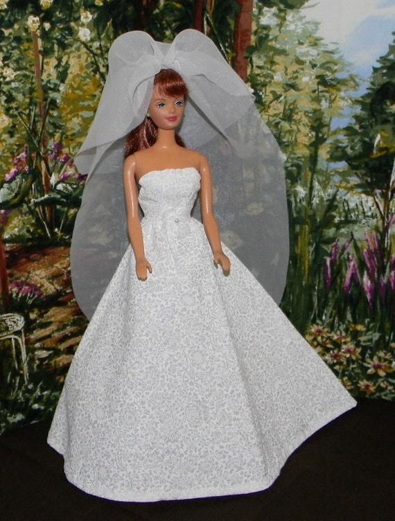 BARBIE wedding dress with veil (BWD-11)