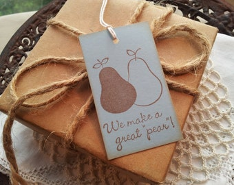 Perfect Pear Wedding Gift and Favor Tags Set of 12