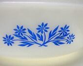 Vintage Fire King Bowls Blue Cornflower Round Nesting Mixing Casserole
