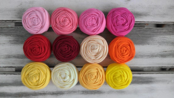 10 fabric rosettes-YOU PICK your colors