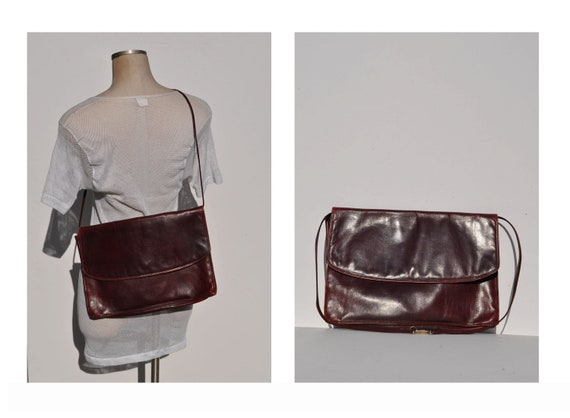 vintage leather bag leather cross body bag leather purse bag
