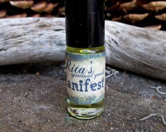 Rita's Manifest Hand Brewed Ritual Oil  - Pagan, Magic, Hoodoo, Witchcraft, Juju