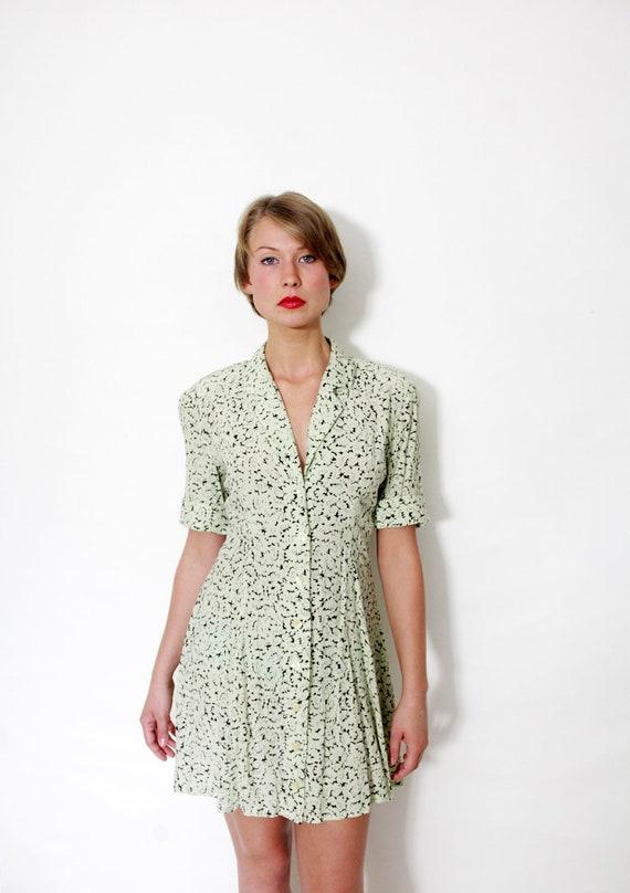 Vintage dress / 80s 90s short floral dress / size S-M