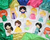 Lil Miss Princess you pick which one you want appliqued in 3D holigraphic material on a short sleeved tee children and adult sizes