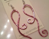 AWARENESS Ribbon BANGIN BEAUTIES  hammered aluminum earrings
