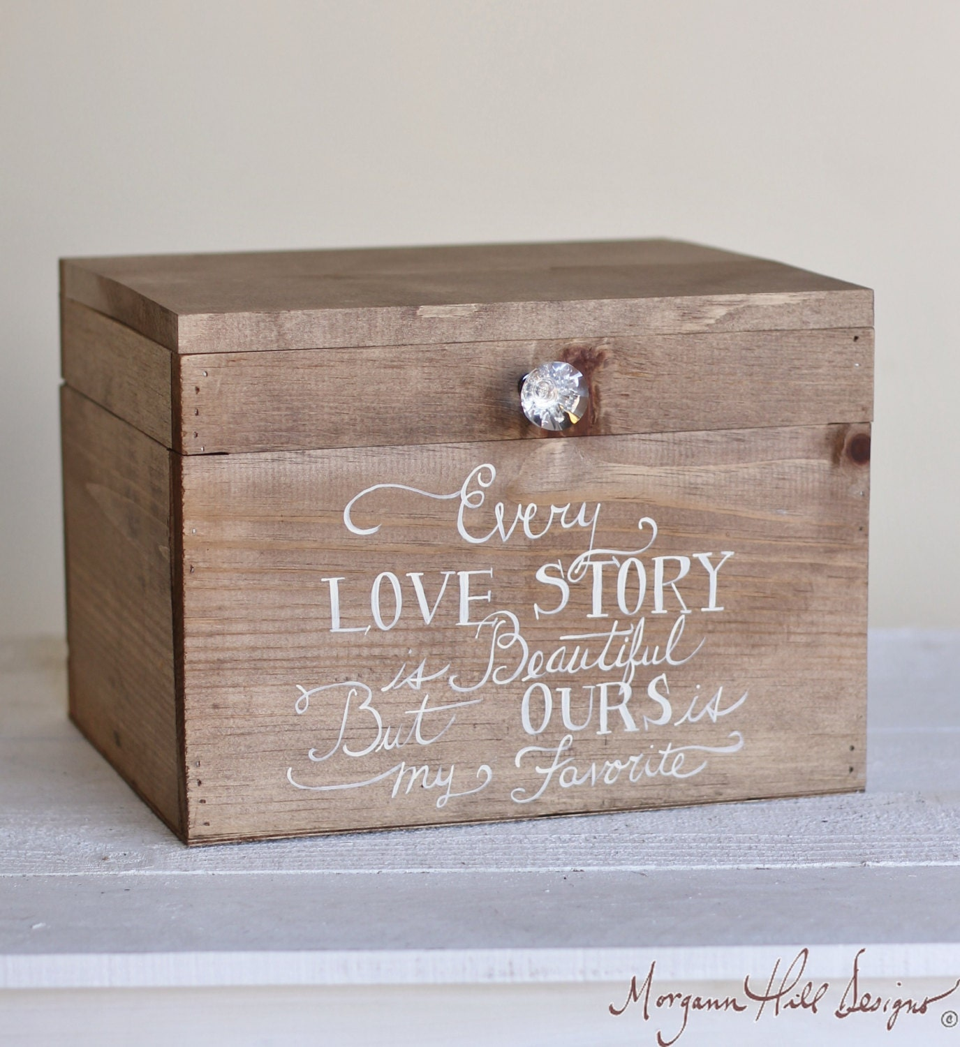 Wedding Card Box Rustic County Barn Love Story by braggingbags