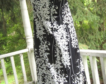 Vintage Maxi Dress Black and White Mod Lady Blair