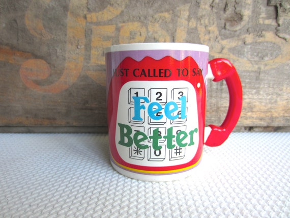 Vintage Shafford Called To Say Feel Better Mug made in Japan