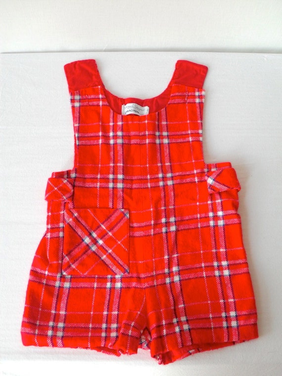 Clearance SALE Vintage Plaid Toddler Romper
