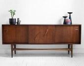 On Hold Till Aug 21st - Vintage Walnut Credenza - Mid Century, Modern, Wood, Buffet, Cabinet, Dresser