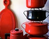 Dansk Dutch Oven Black Kobenstyle Enamel Cookware IHQ Enameled Jens Quistgaard