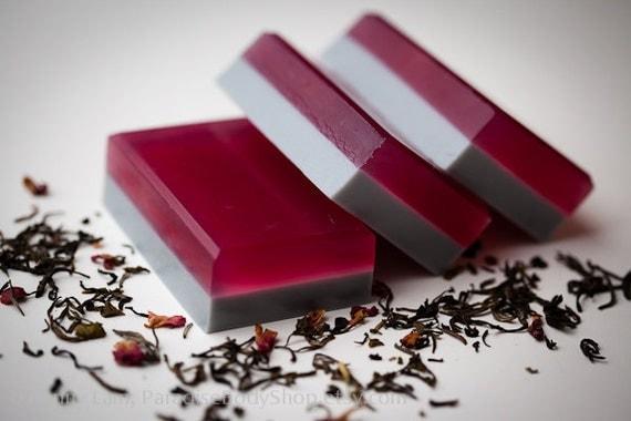 Lady Gray soap - shea butter & olive oil soap - Black Tea, Rose, Lavender - STORE CLOSING SALE