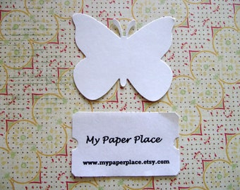 600 White  Butterfly Die Cuts- 2 inch cardstock-  Free Secondary Shipping