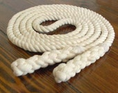 8-ft Single Jump Rope Skipping Rope, Hand-Spliced, Natural Undyed