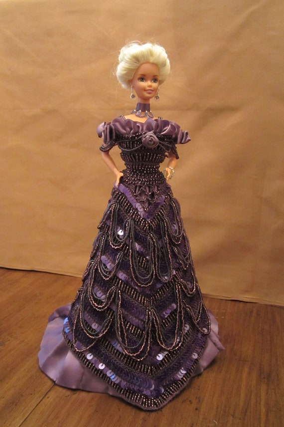 One-of-a-kind Heirloom Quality Crochet Fashion Doll Ball Gown