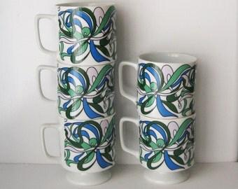 Mod Retro Mug Set