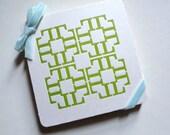 Monogram Coasters, L