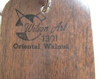 Wilson Art Laminate Sample Key Ring Oriental Walnut