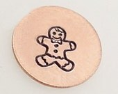 5mm Gingerbread Man Metal Design Stamp - Metal Jewelry Stamping Tool The Urban Beader