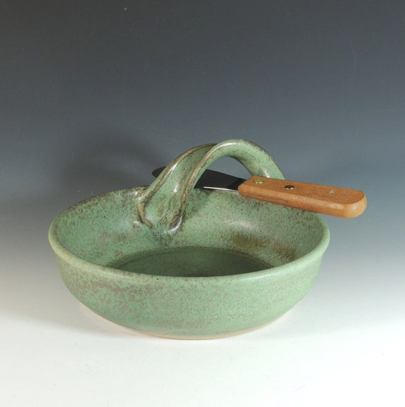 Pottery Brie Baker Ceramic Brie Baker With Spreader Dip