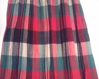 tartan plaid skirt boho bohemian punk grunge wool mod skirt 30 32 pendleton