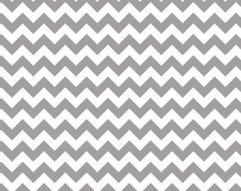 Gray Small Chevrons Fabric from Riley Blake Designs - Grey Chevron - Zig Zags - 1 Yard - by the Yard