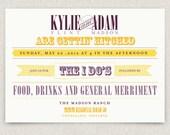 Darling - modern vintage wedding invitation with kraft envelopes